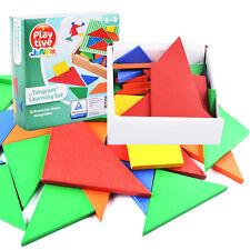 32Pcs/Set Wooden Tangram Developmental Brain Teaser Puzzle Game Kids Child Toy