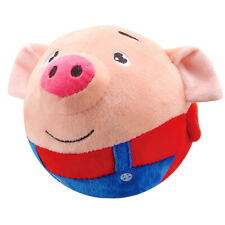 Plush Pig Singing Jumping Ball Kids Educational Toy Gift Bouncing Toy Red