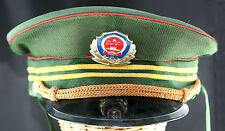 Obsolete Very Rare Chinese National Police Senior Officer Cap With Badge Used