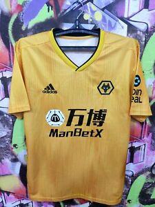 Wolverhampton Wanderers FC 2019 2020 Home Football Shirt Soccer Jersey Mens L