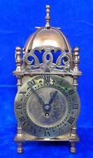 Vintage Smiths 8 Jour Laiton Lanterne Horloge Nell Gwynne-key wound-fonctionnel