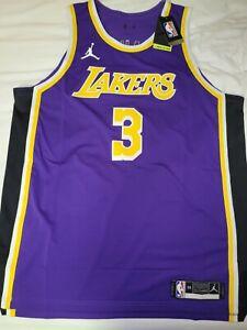 Nike Anthony Davis #3 LA Lakers Authentic STITCHED Jersey Jordan Brand Sz 56 2XL