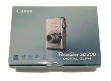 Canon PowerShot Digital ELPH SD300 / IXUS 4.0MP Made in Japan / Silver