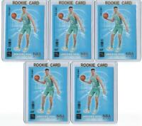 Lot of FIVE LaMelo Ball 2020-21 Hoops Arriving Now #15 Insert Rookie Card RC lot