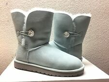 UGG Bailey Button Bling Ice Blue Boot US 11/EU 42/UK 9.5 - NIB