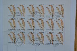 Sao Tome e Principe 1992 Definitive Series. Full Sheet - 18 Stamps