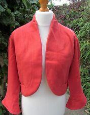 Dolphin House-Richmond Surrey Femmes vintage rouge veste en laine taille S-veuillez lire