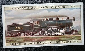 Grand Trunk Railway   Canada  Consolidation Steam Engine  Original Vintage Card