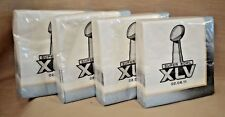 LOT 4 PK 128 NAPKINS SUPER Bowl XLV Pittsburgh STEELERS and PACKERS FOOTBALL NFL