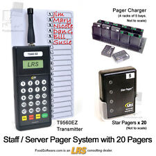 20 Server Pager Restaurant Paging System Kit by LRS Long Range Systems