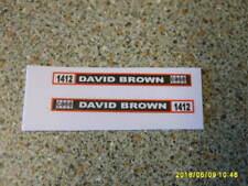 CORGI  DAVID BROWN 1412  FARM TRACTOR  SIDE STICKERS   NEW REPLACEMENT