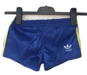 Adidas Running Shorts Vintage 80s Blue/Yellow Made in West Germany 🇩🇪 Child