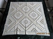Museum Quality Flawless Norwegian Hardanger Linen and Silk Embroidered Textile