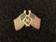 Bicentennial- Double American Flag Pin Vintage Americans Remember - Spirit of 76