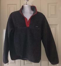 Patagonia Men's 1/4 Snap Fleece Pullover Gray Size XL EUC