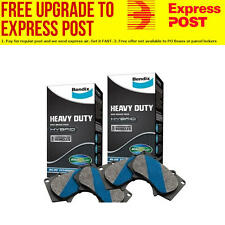 Bendix HD Front and Rear Brake Pad Set DB1678-DB1766HD fits Holden Commodore