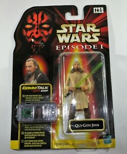 STAR WARS Episode I - Qui-Gon Jinn COMM Talk Chip HASBRO Neu-OVP