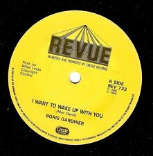 BORIS GARDINER I Want To Wake Up With You Vinyl Record 7 Inch Revue REV 733 1986