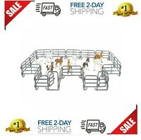 Kids Corral Fence Pasture Panel Gates Horse Farm Pretend Play Toy Gift New
