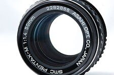 PENTAX SMC PENTAX-M 50mm F1.4 K Mount Lens SN2282868