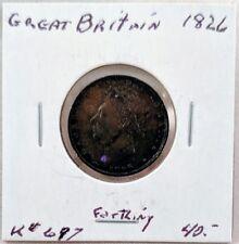 1826 Great Britain Farthing