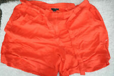 Lane Bryant Linen Blend Shorts Cuffed Hem Tie Waist Orange Coral Plus Sz 18 20