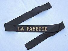 LA FAYETTE - PORTE AVIONS - RUBAN LEGENDE MARINE