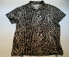 Polo DENIM & SUPPLY Ralph Lauren LEOPARD PRINT RUGBY polo jersey shirt sz XL vtg
