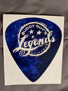 "BUDDY GUY Guitar Pick STICKER 5 1/4"" x 4 1/2"" LEGENDS Blue Logo FAST! FREE SHIP!"