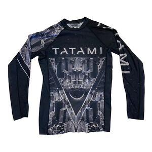 Tatami Men Rashguard Metropolis M BJJ Rashie No Gi Skyline Futuristic Sci-Fi