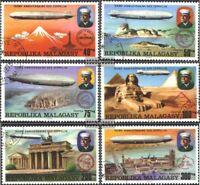 Madagaskar 783-788 (kompl.Ausg.) gestempelt 1976 75 Jahre Luftschiff Zepelin