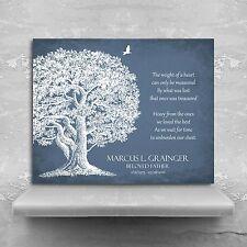 (LT-1329) Personalized Memorial Plaque In Loving Memory Poem Oak Tree Sympath...