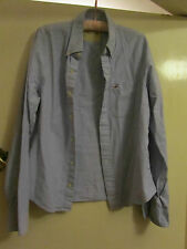 """Blue Button Down Collar Hollister Shirt in Size L - Chest 48"""""""