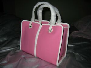 NWT KATE SPADE SAM CANVAS PLUNGE PINK TOTE BAG WITH POUCH
