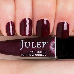 NEW! Julep nail polish MARLA ~ Burgundy velvet with silver shimmer ~ full size