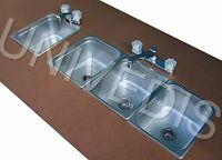 CONCESSION  SINK STAND three 3 COMPARTMENT W/ HAND