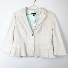 Ann Taylor Linen Size 12p Blazer Button Front