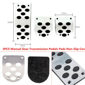 3X Manual Gear Transmission Pedals Pads Car Gas Brake Pedal Non-Slip Cover Solid