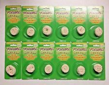 LOT OF 12 - YOMEGA WHITE YOYO REPLACEMENT STRING PACKS (5 STRINGS PER PACK)