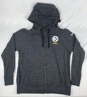 PITTSBURGH STEELERS Nike Full-Zip Hoodie Sweatshirt Jacket Gray XL NFL Football