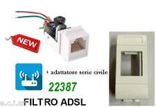 FILTRO ADSL RJ11 DA INCASSO FRUTTO PER BTICINO LIVING LIGHT BIANCA