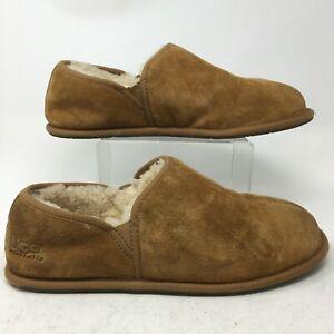UGG Scuff Romeo II Shearling Slipper Mens 14 Brown Suede Sheepskin Wool 5650