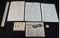 1950s Vintage Merit (Randall) Racing Car Kit Instruction Sheets & Decal  (A601)