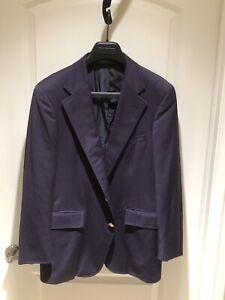 Vintage Polo Ralph Lauren for Perkins Shearer Navy Blazer Brass Buttons 38-40 NR