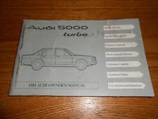 1981 AUDI 5000 TURBO ORIGINAL OWNER MANUAL, GOOD CONDITION