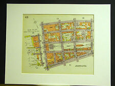 Brooklyn Map 1929 Matted WILLIAMSBURG BEDFORD S. 3rd - 5th BROADWAY KENT BERRY
