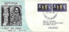 Mail art. Art postal. Enveloppe PJ Shakespeare + dessin