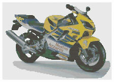 HONDA CBR 600F VALENTINO ROSSI MOTO Crossstitch KIT by florashell