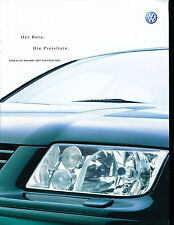 2001 2002 Volkswagen Bora Spec Sales Brochure Dutch