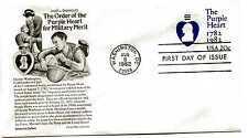 U603 The Purple Heart  embossed envelope,  Aristocrat Cachets FDC